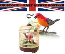 BEAUTIFUL  ELECTRONIC  BIRD SINGING MOVING CHIRPING TOY PET BIRD IN CAGE