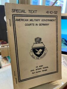 Nobleman, Eli E.: American military government courts in Germany