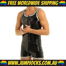 Rubber Look Bodysuit - Fetish, Gay, Leather *FREE WORLDWIDE SHIPPING*