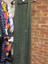NEW-LuLaRoe JOY Cardigan Lightweight Vest Medium Olive Moss Green Heathered NEW
