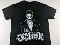 NEW Joker Suicide Squad DC Comics Black T Shirt Movie Superhero Casual