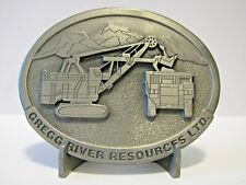 P&H 2800 Mining Shovel Belt Buckle 1994 Gregg River Resources Record Year 33/450