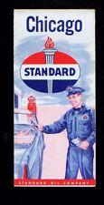 1950's Standard Oil Chicago (Illinois) foldout map