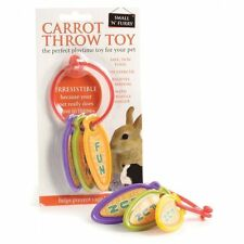Small N Furry Safe Toy Carrot Throw Toy Plastic Toy for Rabbits,Guinea Pigs