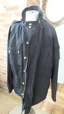 Orvis Jacket coat Rain Parka windbreaker HOODED COTTON Sz Large LOTS OF POCKETS