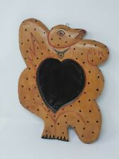 Indonesian / Balinese Handcrafted Weird Frog Toad Heart Mirror