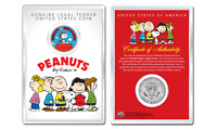 Peanuts SNOOPY vs. RED BARON OFFICIAL JFK Half Dollar US Coin in PREMIUM HOLDER