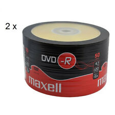 MAXELL DVD-R Blank Recordable Digital Disc DVDR 4.7GB 16x SPEED 120mins 50 Pk x2