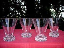 SAINT LOUIS DIAMANT 4 WATER CRYSTAL GLASSES VERRES A EAU CRISTAL TAILLÉ ART DECO