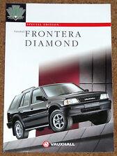 1995-96 VAUXHALL FRONTERA DIAMOND Sales Brochure - Special Edition Model