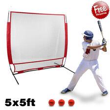 5'x5' Outdoor Practice Hitting Baseball Net Training Thrower Batting With Bag B2