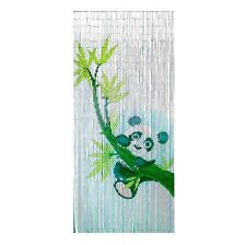 Bamboo Beaded Curtain Hanging Door Beads Room Divider Wall Panda Window Decor