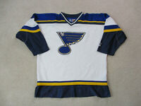 VINTAGE Starter St Louis Blues Hockey Jersey Youth Extra Large White SEWN Boys *
