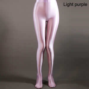 Sexy Women Shiny Glossy Spandex Stockings Opaque Pantyhose Sports Tights Fitness