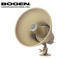 Bogen Horn Loudspeaker 15 Watt Paging Metal PA Single Tap Speaker w/ Base HS15EZ