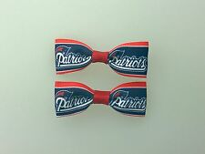 New England Patriots Hair Bows with Alligator Clips