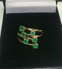 Green Diopside 9CT Gold Ring UK Size K Fully Hallmarked