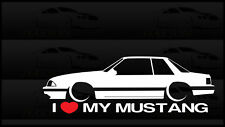I Heart My Mustang Sticker Love Ford Slammed Fox Body Bagged 5.0 V8 Coupe Notch