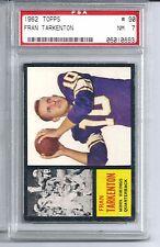1962 Topps Football #90 Fran Tarkenton Rookie Card PSA 7