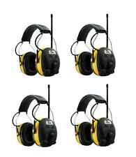 (4) PELTOR WORKTUNES Digital AM FM MP3 Radio HEADPHONES Hearing Ear PROTECTION