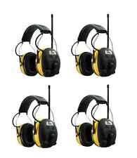 (4) PELTOR WORKTUNES Digital AM FM MP3 Radio HEADPHONES Hearing Ear PROTECTION