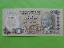 Turkey 100 Lira 1970 (GEM UNC)