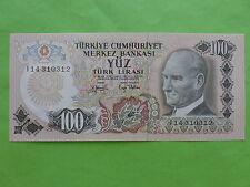 Turkey 100 Lira 1970 (GEM UNC)