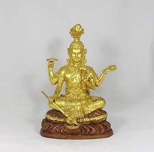 "Large Hindu Shiva Statue (Gilt Bronze)  12"" HIGH"