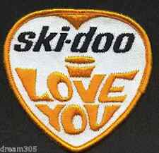 Vintage Skidoo Patch Snowmobile I Love You Ski Doo / Badge for hat or jacket!