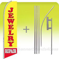 Feather Swooper Flutter Tall Banner Sign Flag 15' Kit - Jewelry Repair yb