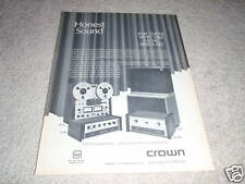 Crown SX724,IC150,DC300a,ES212 Ad from 1968 Amp,Pre