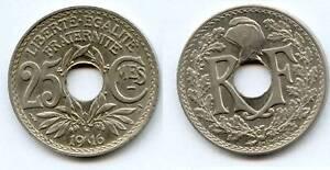 25 Centimes Nickel 1916 Cmes Souligné Qualité  SUPERBE