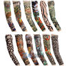 Outdoor Bicycle Cycling Tattoo Arm Warmers Cuff Sleeve Cover UV Sun Protection