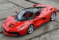 New Bburago 1:18 Ferrari Laferrari Diecast Metal Model Roadster Car In Box Red