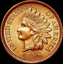 1896 INDIAN HEAD CENT, LUSTROUS RED SOLID GEM PROOF, ONLY 1,862 MINTED (IH807)