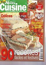 maxi cuisine decembre 2007 : 90 recettes - delices de la mer - volailles -
