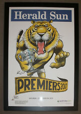 Framed 2017  Richmond Premiers Herald Sun Knight posters Premiership Poster
