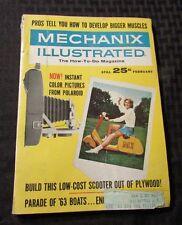 1963 Feb MECHANIX ILLUSTRATED Digest Magazine FN- Polaroid Scooter Boats
