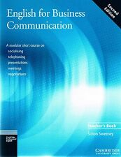Cambridge ENGLISH FOR BUSINESS COMMUNICATION Second Edition Teacher's Book @NEW@
