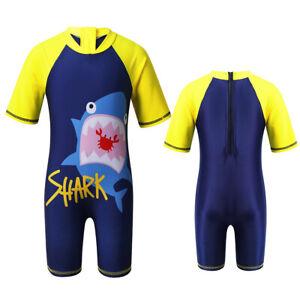 Kid Boys Swimsuit Shark/Dinosaur Swimwear Bathing Surfing  Rash Guard Beachwear