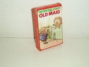 "Vintage Pepys card game ""Woodland Old Maid"" 1957."
