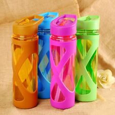 Sports Water Bottle Portable Bottle Straw Anti Hot Leak Proof Plastic Drinkware