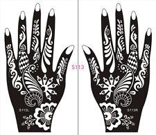 Henna decal stencil body jewllery self adhesive hand S113