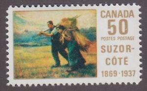 Canada, 1969, 50c Suzor-Cote, SG 634, Sc 492, mint light hinge.