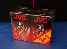 *** LOT DE QUATRE CASSETTES CAMESCOPE JVC VHSC SX EC 30 - NEUVE  ***