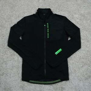 Gore Bike Wear Full Zip Jacket Adult Size S Small Neon Green Accents Polyamide