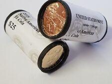 1 Mint Roll, 2018-D Jim Thorpe Native American Dollar, Sacagawea $1 Uncirculated