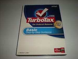 Turbotax 2008 Basic version. New. 10 lot Turbo Tax 2008