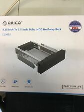 """ORICO Trayless Mobile Rack for 3.5"""" SATA III HDD into 5.25 Inch PC Bay - Hot Swa"""