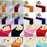 "1X Satin Table Runner 12"" x 108"" Wedding Party Banquet Home Table Textile Decor"